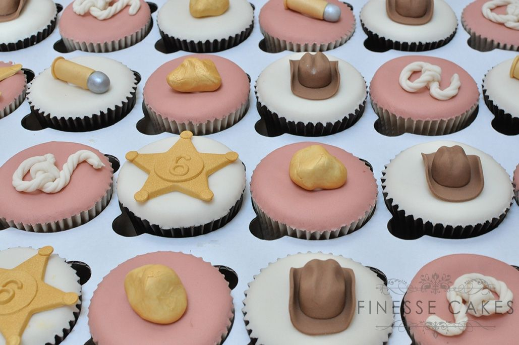 cowboy themed cupcakes for boy birthday essex