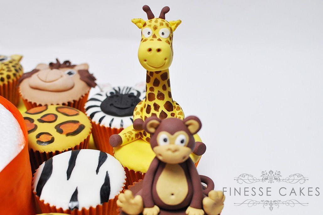 Safari animal cupcakes for boys  girls birthday cake maker essex