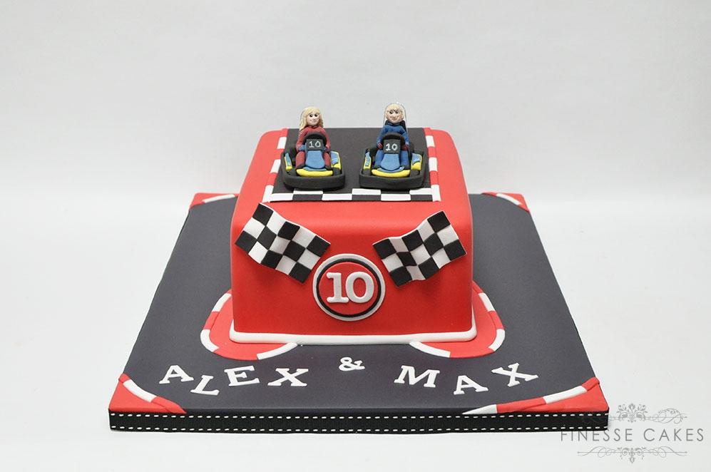 racing go karting cake