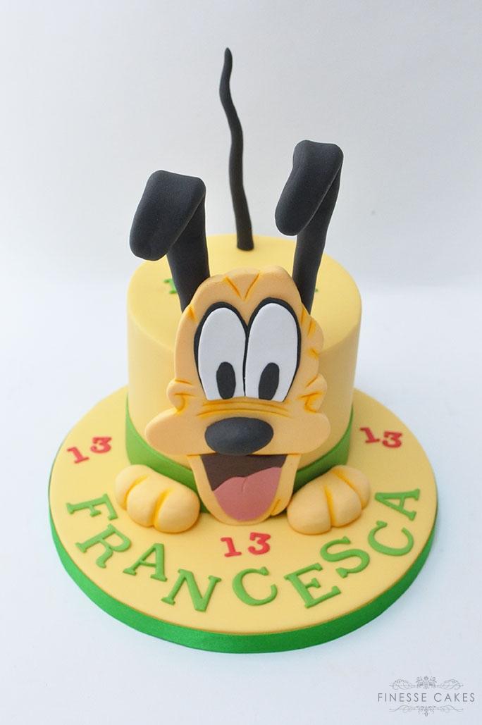 cute yellow dog themed birthday cake boy/girl essex