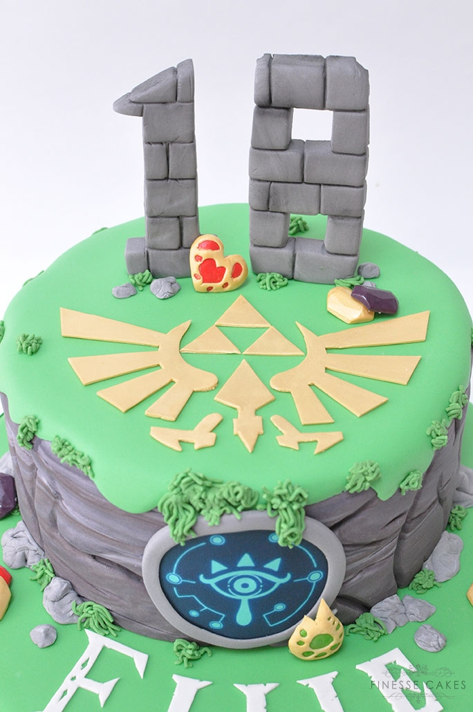 Zelda themed birthday cake essex cake makers