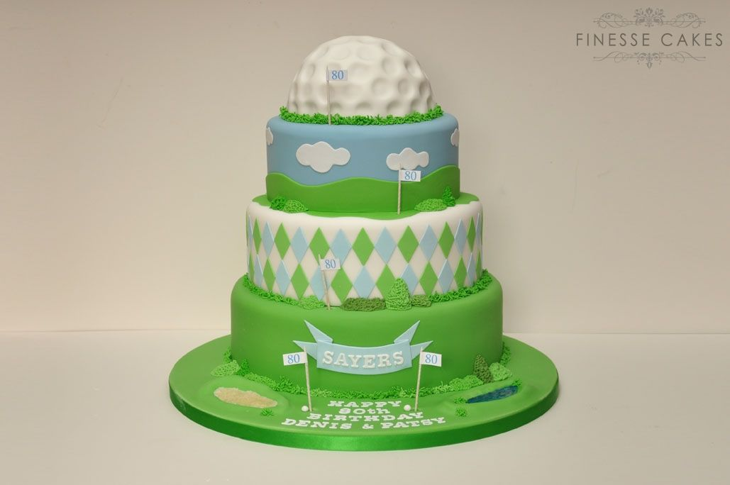 birthday cakes for men golf cake essex