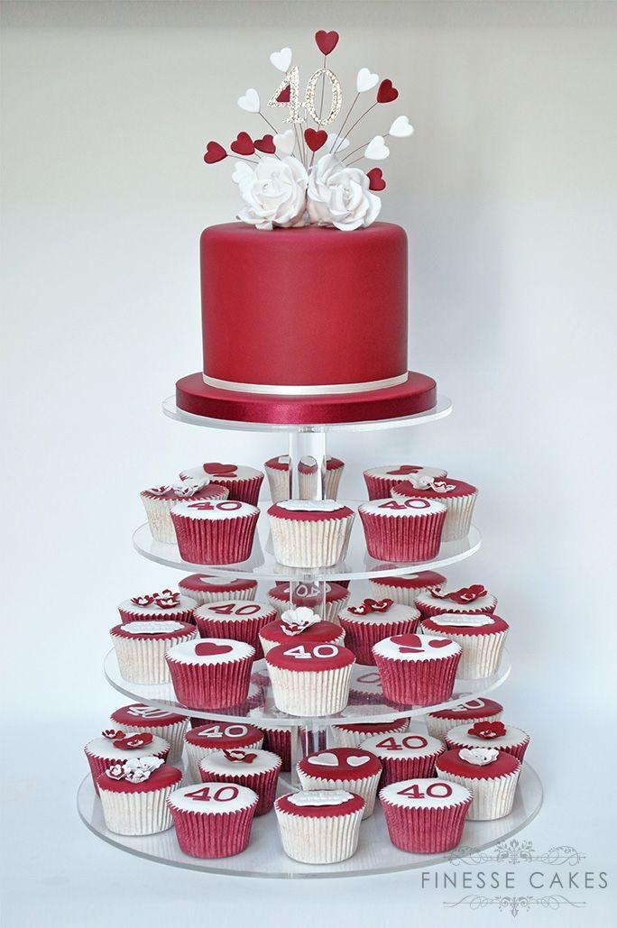 ruby anniversary cake essex 40th southend