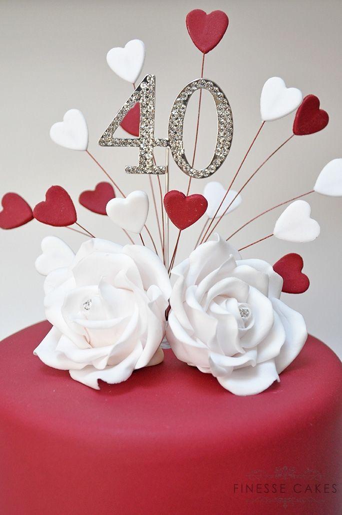 wedding anniversary cake ruby hockley 40th