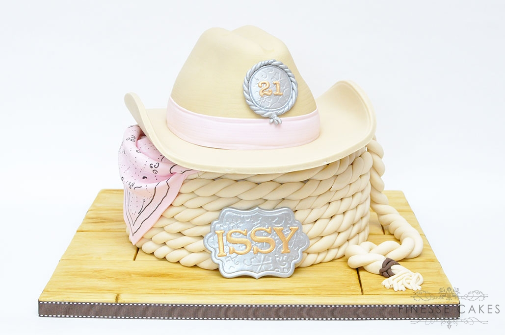 cowgirl hat and rope cake hockley essex