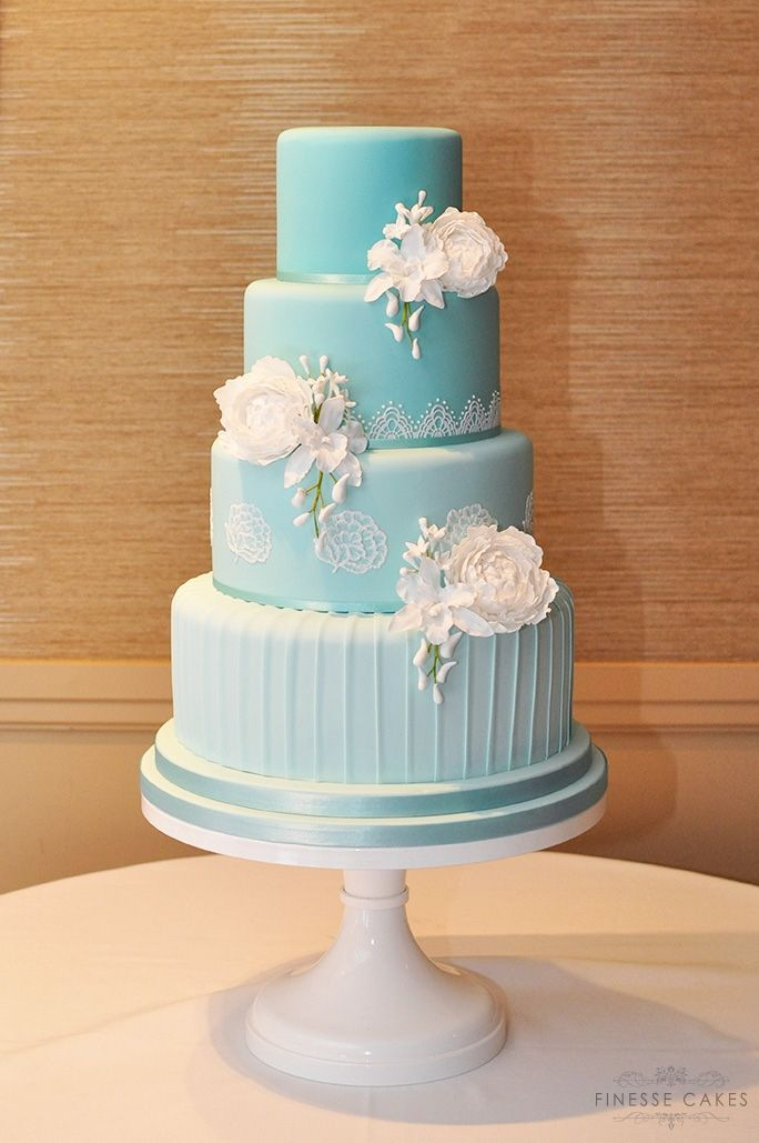 tiffany blue ombre wedding cake ivy hill hotel