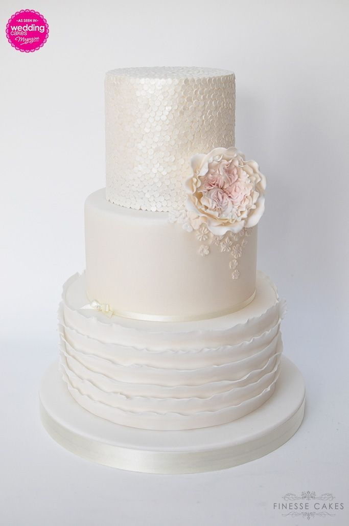 sequins wedding cake