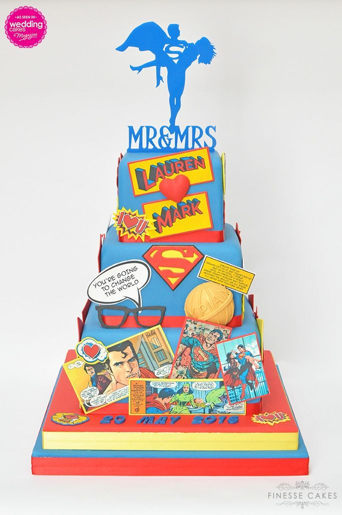 superman wedding cake themed essex