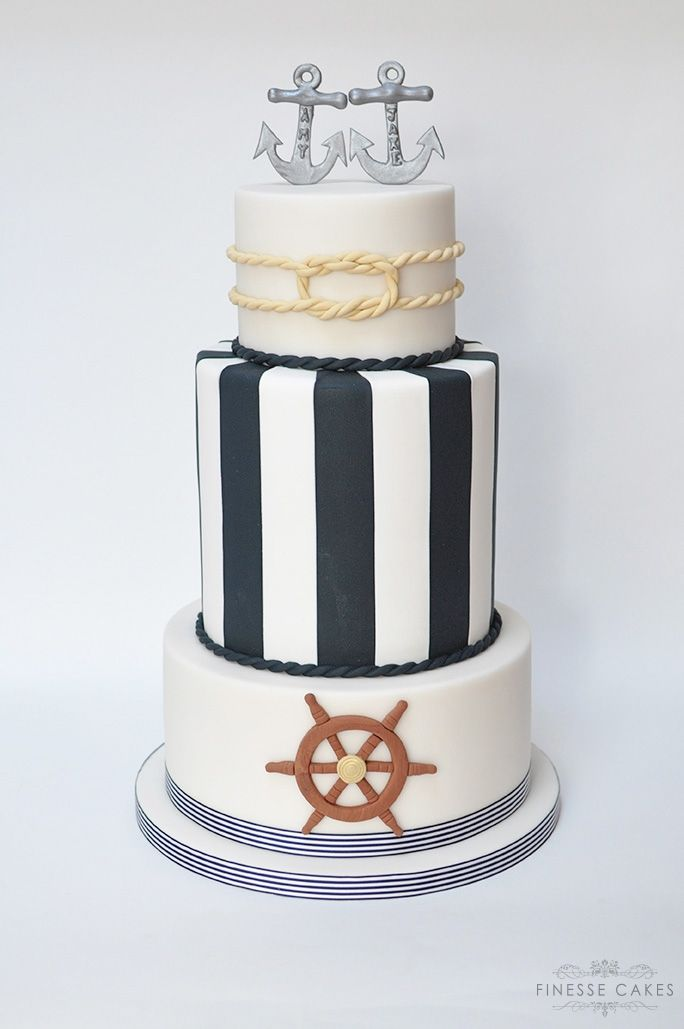 nautical wedding cake anchor cliffs pavilion