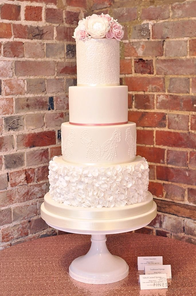 sequin ruffles wedding cake