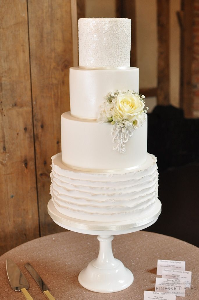 sequins ruffles wedding cake blake hall