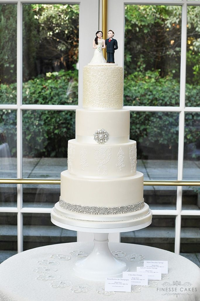 sequins lace wedding cake the lawn rochford