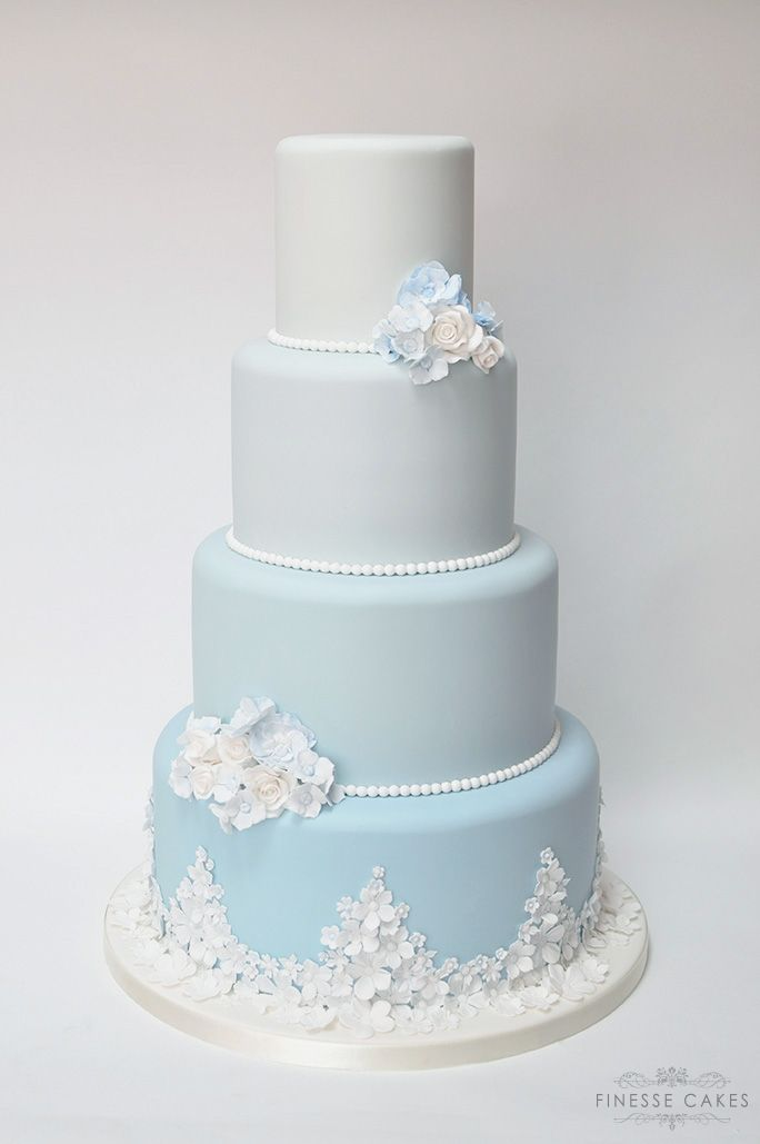 blue ombre wedding cake the lawn