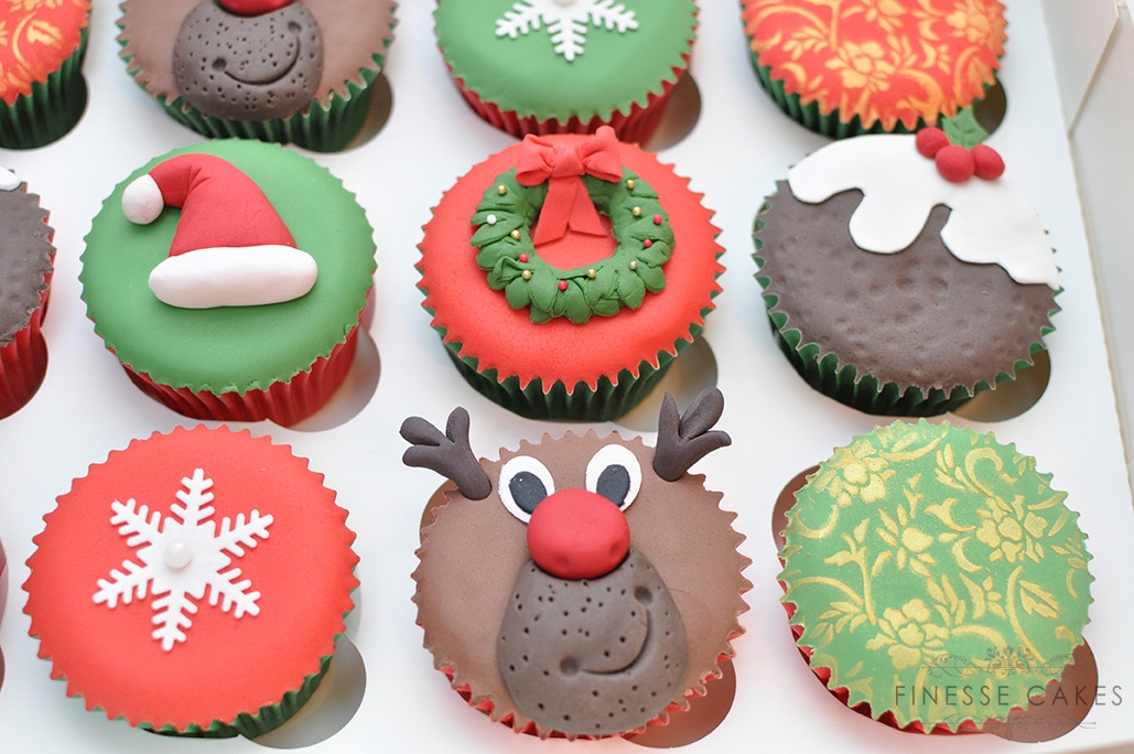 christmas cupcakes reindeer mince pie snowflakes essex southend